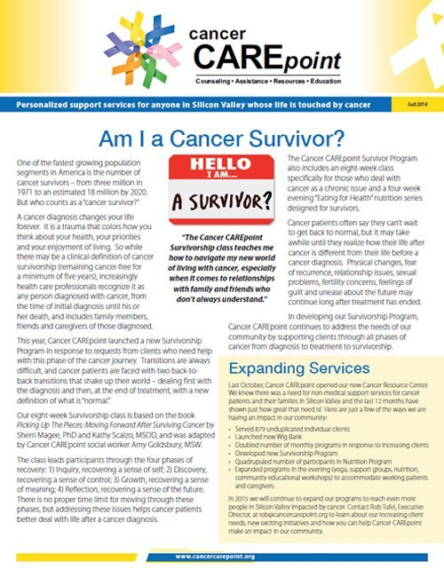 Cancer CAREpoint Fall 2014 Newsletter