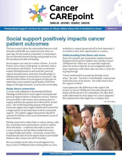 Cancer CAREpoint Fall 2016 Newsletter