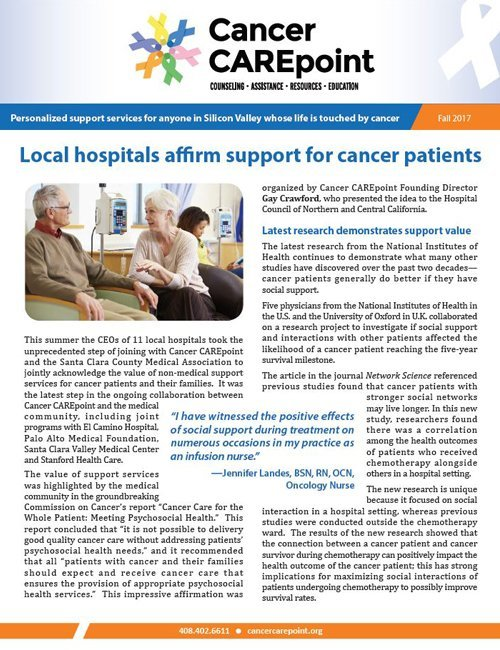 Cancer CAREpoint Fall 2017 Newsletter