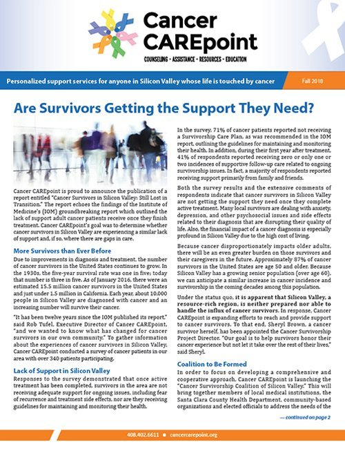 Cancer CAREpoint Fall 2018 Newsletter