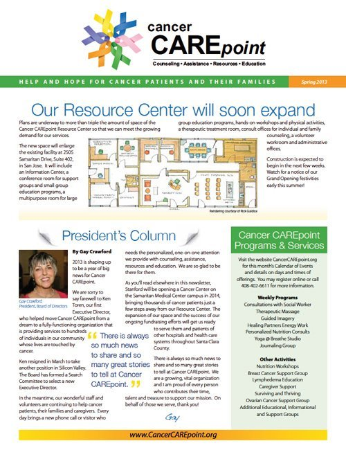 Cancer CAREpoint Spring 2013 Newsletter