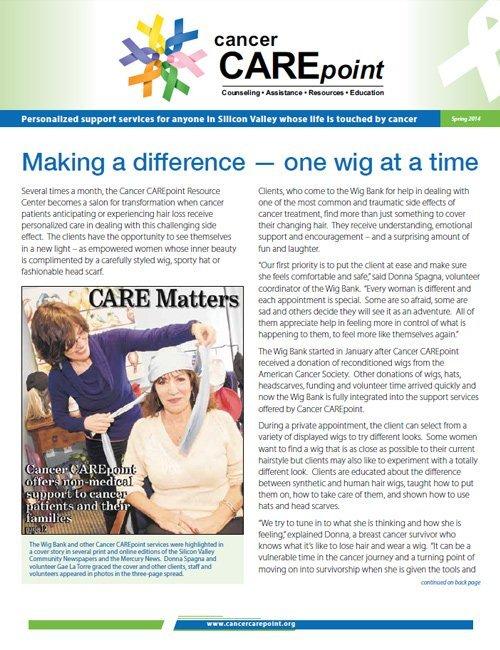 Cancer CAREpoint Spring 2014 Newsletter
