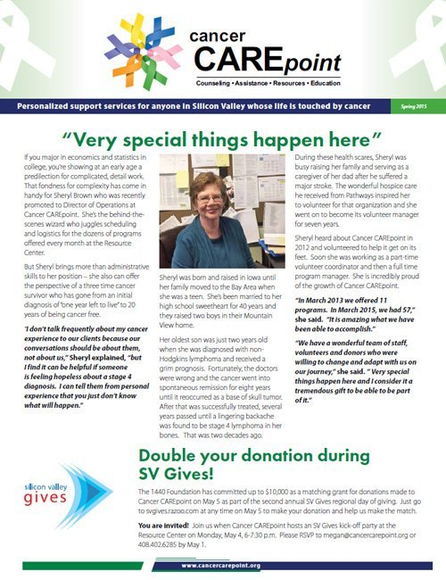 Cancer CAREpoint Spring 2015 Newsletter