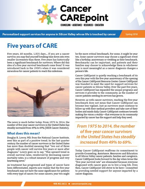 Cancer CAREpoint Spring 2018 Newsletter