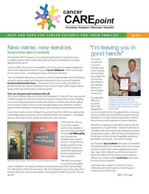 Cancer CAREpoint Summer 2012 Newsletter