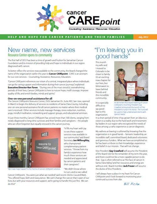 Cancer CAREpoint Summer 2012 Newsletter