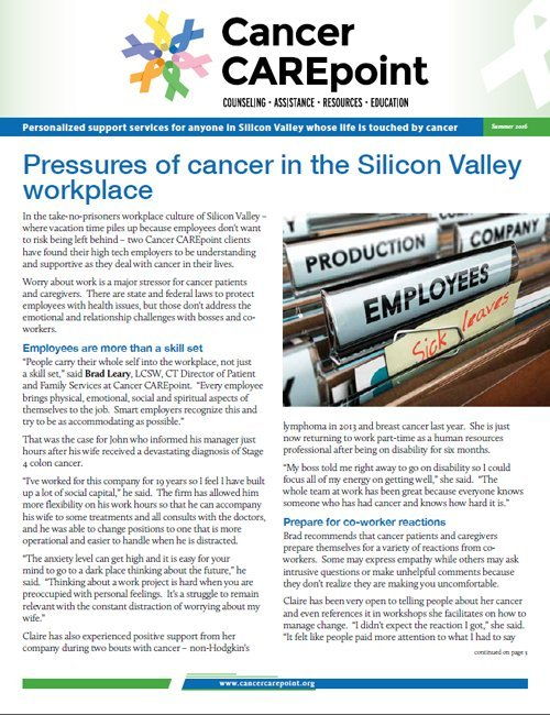 Cancer CAREpoint Summer 2016 Newsletter