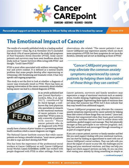 Cancer CAREpoint Summer 2018 Newsletter