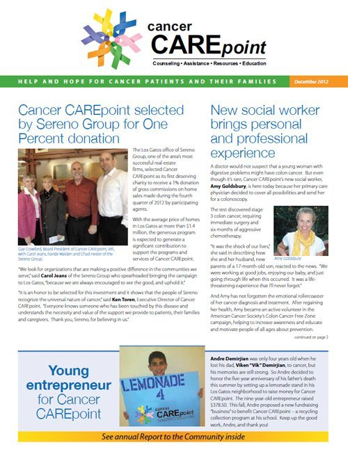 Cancer CAREpoint Winter 2012 Newsletter