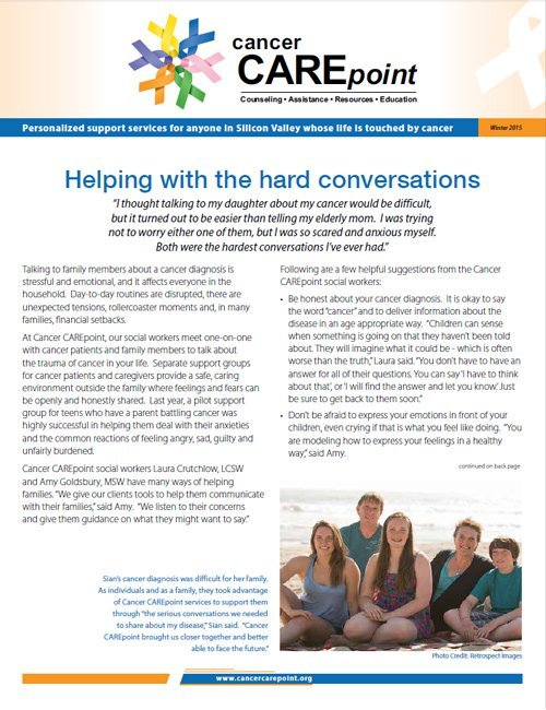 Cancer CAREpoint Winter 2015 Newsletter