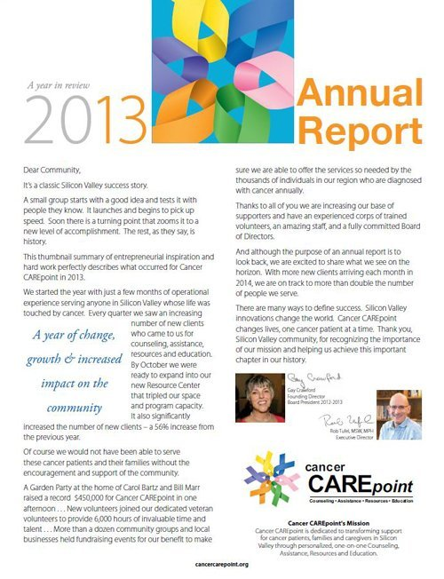 Cancer CAREpoint 2013 Annual Report